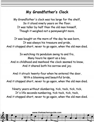 lyrics grandfather Do You Remember These Classic Songs We Used To Sing In Assemblies