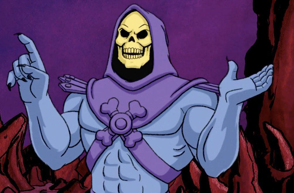 Skeletor shrugs, or devises an evil plan, or something like that