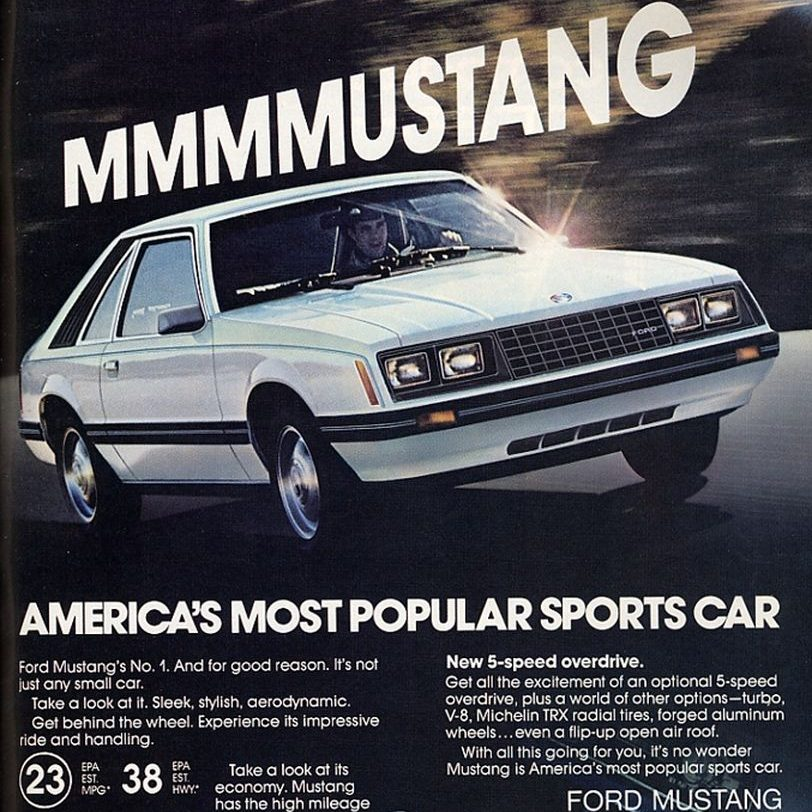 1980 Ford Mustang Ad 01 e1600094496543 20 Things You Missed In Back To The Future