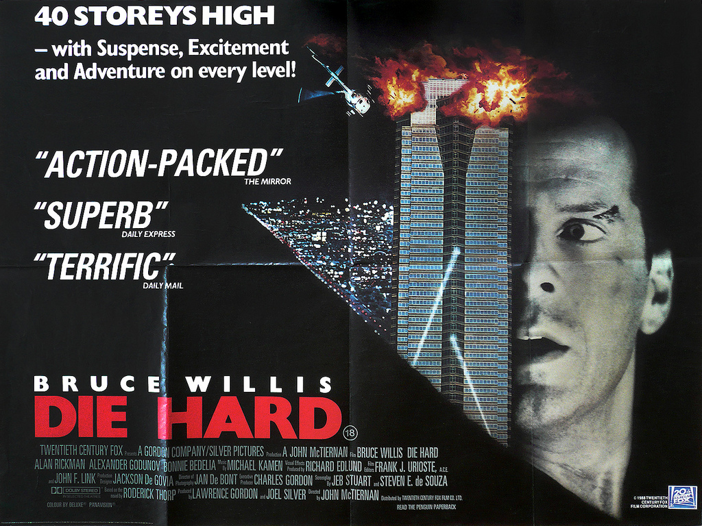 1988 Die Hard poster 14 Things You May Not Have Realised About Die Hard