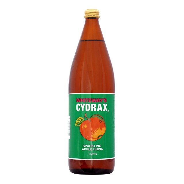 A bottle of Whiteway's Cydrax