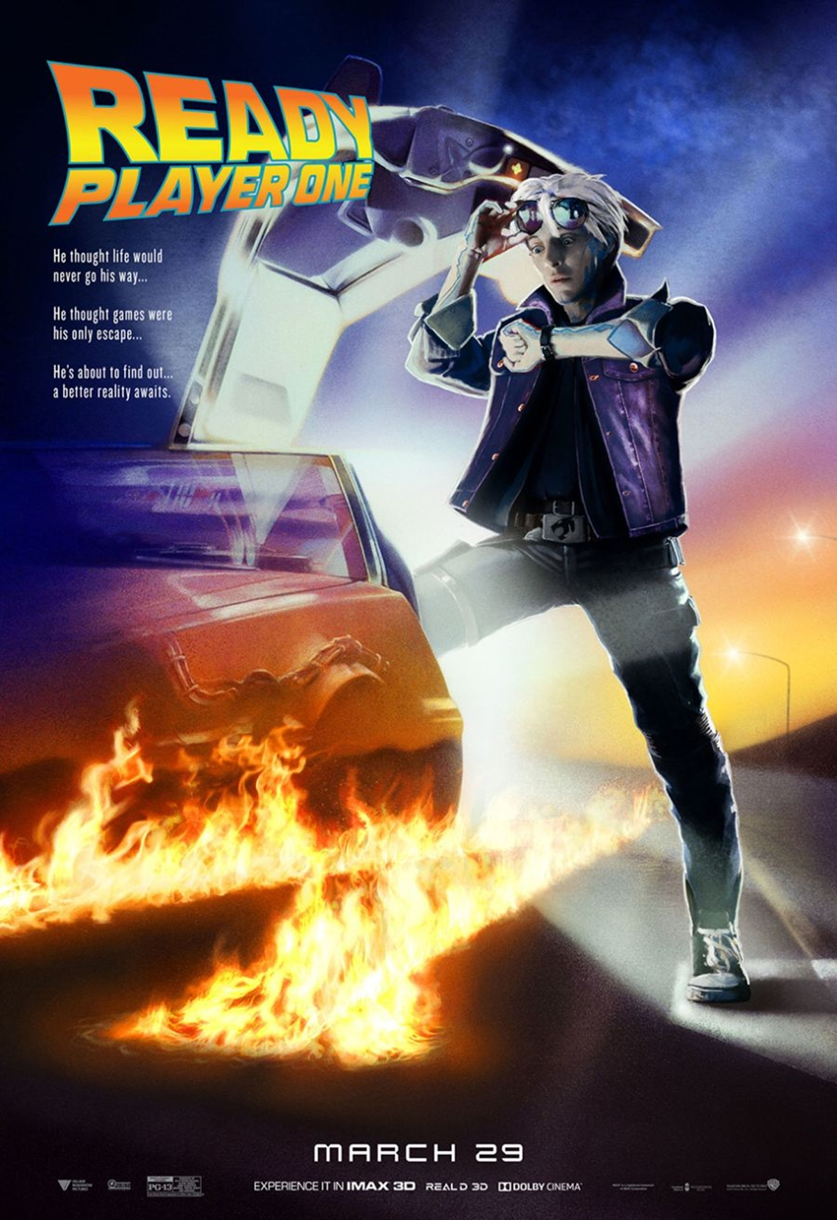 FUTURENEW 12 Classic Film Posters Are Recreated To Promote Spielberg's 'Ready Player One'