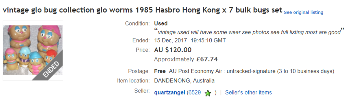 GLO EBAY 10 Toys From Our Childhood That Are Now Worth A Lot Of Money