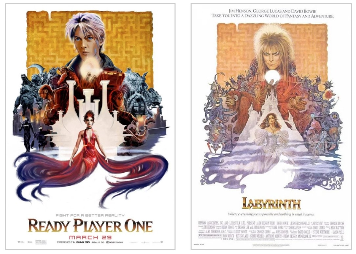LABYRYNTH 12 Classic Film Posters Are Recreated To Promote Spielberg's 'Ready Player One'