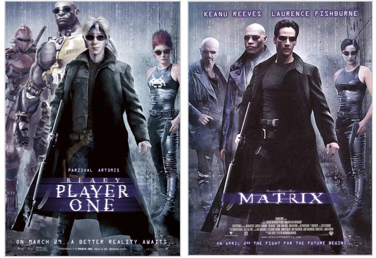 MATRIX 12 Classic Film Posters Are Recreated To Promote Spielberg's 'Ready Player One'