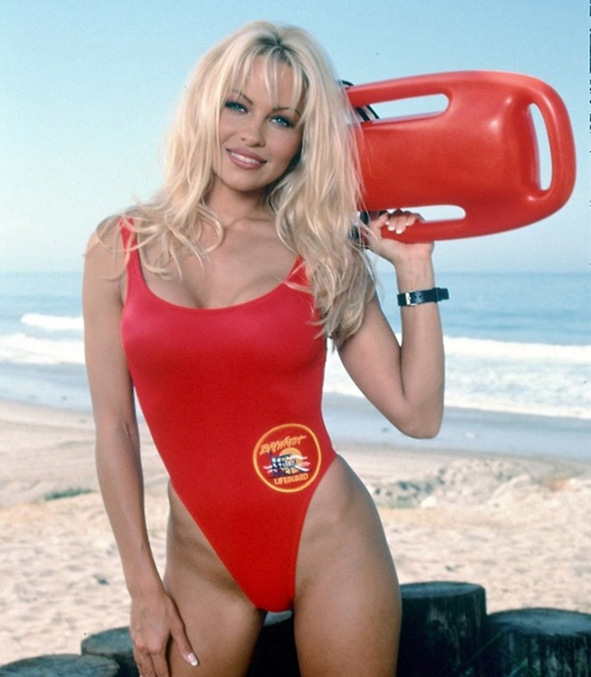 Pamela Anderson as Casey Jean CJ Parker in Baywatch