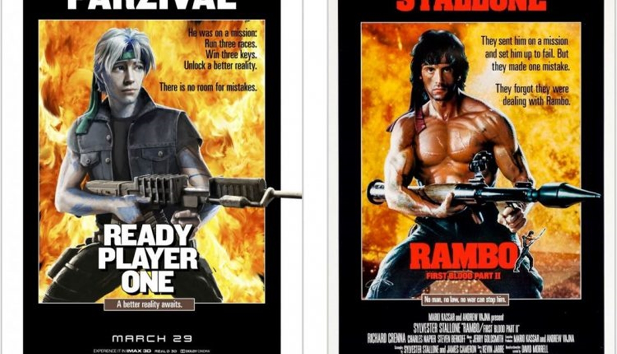 RAMBO 12 Classic Film Posters Are Recreated To Promote Spielberg's 'Ready Player One'