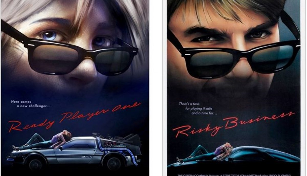 RISKY BUSINESS 12 Classic Film Posters Are Recreated To Promote Spielberg's 'Ready Player One'