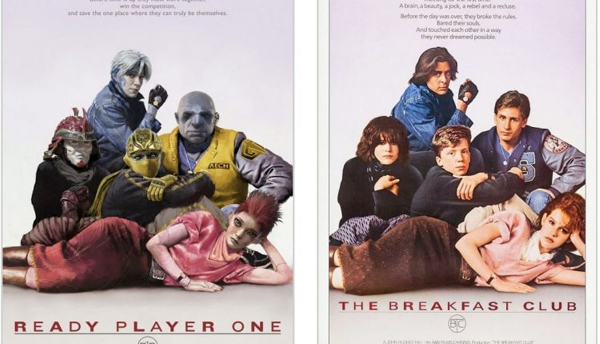 THE BREAKFAST CLUB 12 Classic Film Posters Are Recreated To Promote Spielberg's 'Ready Player One'