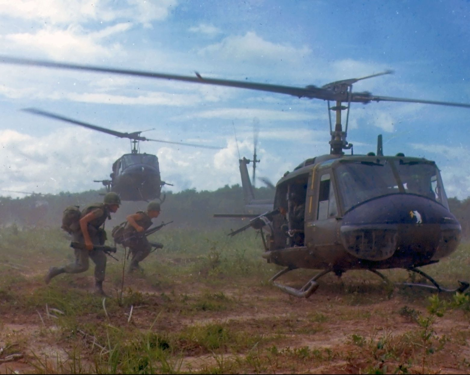 UH 1D helicopters in Vietnam 1966 e1606751396247 30 Things You Probably Didn't Know About Platoon