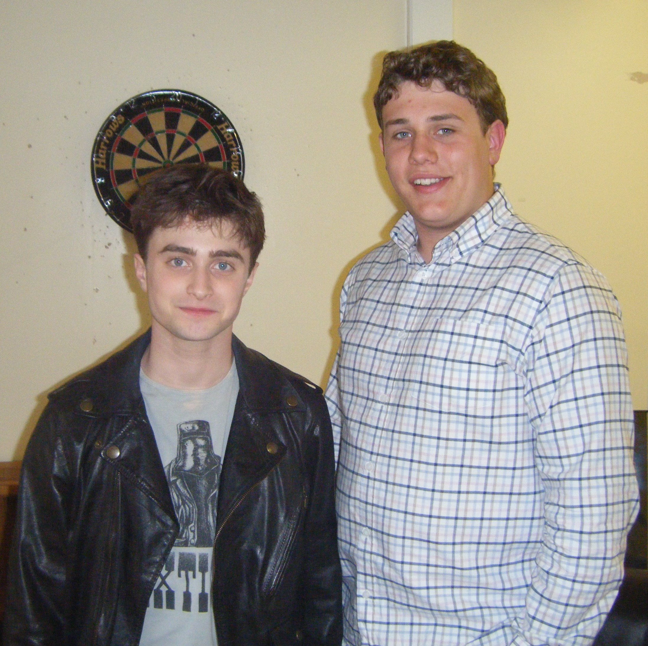 Robert Knox with Harry Potter star Daniel Radcliffe