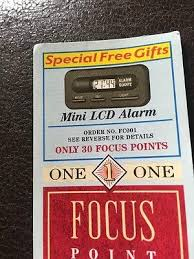 7. Focus points 12 Of The Best Freebie Collectables That We Loved In The 80s