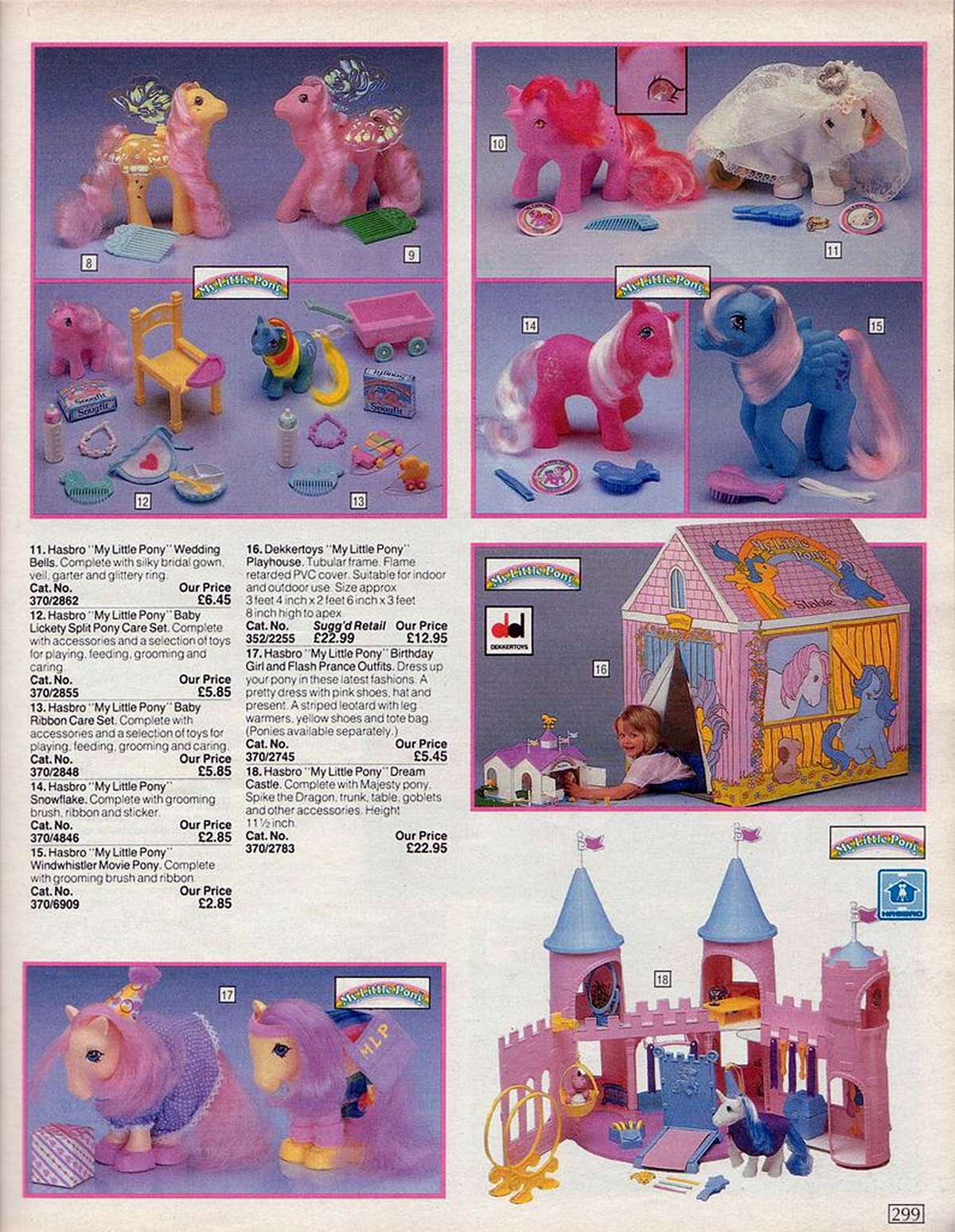 My Little Pony in an Argos catalogue from the 80s