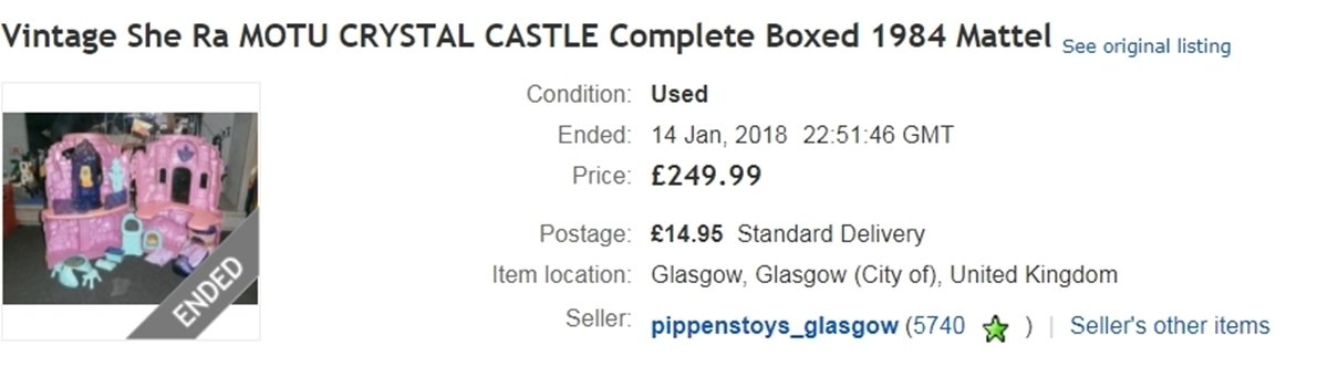 CRYSTAL CASTLE EBAY 10 He-Man And She-Ra Toys That Are Now Worth A Lot Of Money
