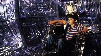 A scene from Flight of the Navigator