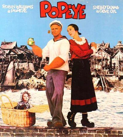 A film poster for Popeye