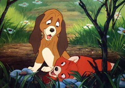 A scene from The Fox and the Hound