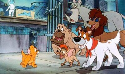 A scene from Oliver and Company