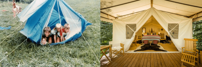 Glamping 12 Differences Between Holidays In The 1980s And Holidays Today!