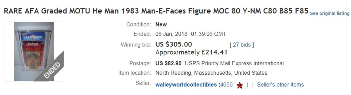 MANEFACES EBAY 10 He-Man And She-Ra Toys That Are Now Worth A Lot Of Money