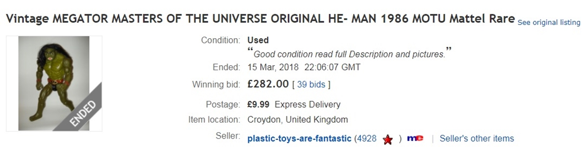 MEGATOR EBAY 10 He-Man And She-Ra Toys That Are Now Worth A Lot Of Money