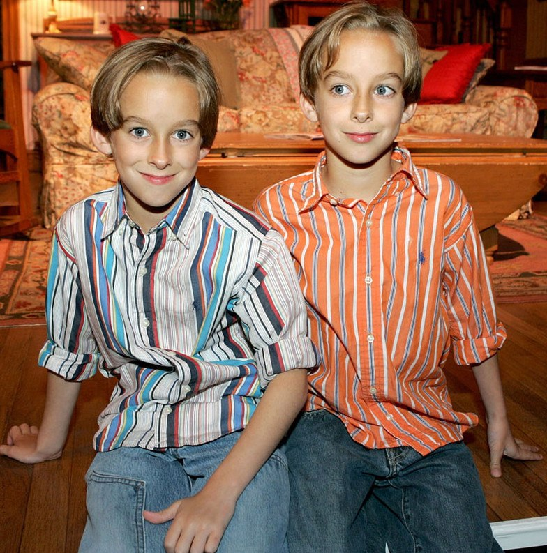 Sawyer Sweeten with his twin brother