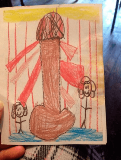 Screen Shot 2018 04 13 at 13.54.16 31 Examples Of When Childrens Drawings Go Horribly Wrong