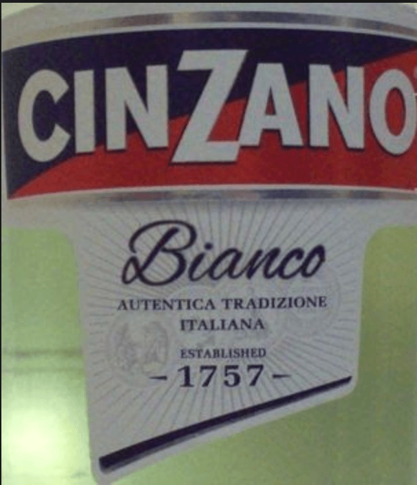 A can of CinZano
