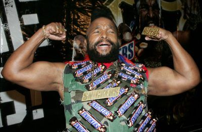 mr t covered in snickers