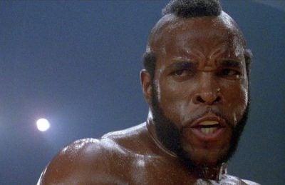 Mr T in a scene from Rocky