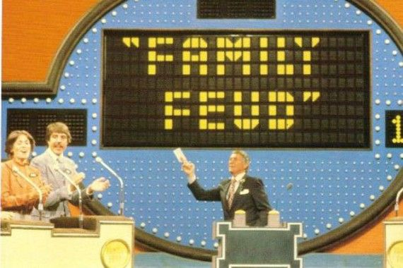 Family Feud live on air
