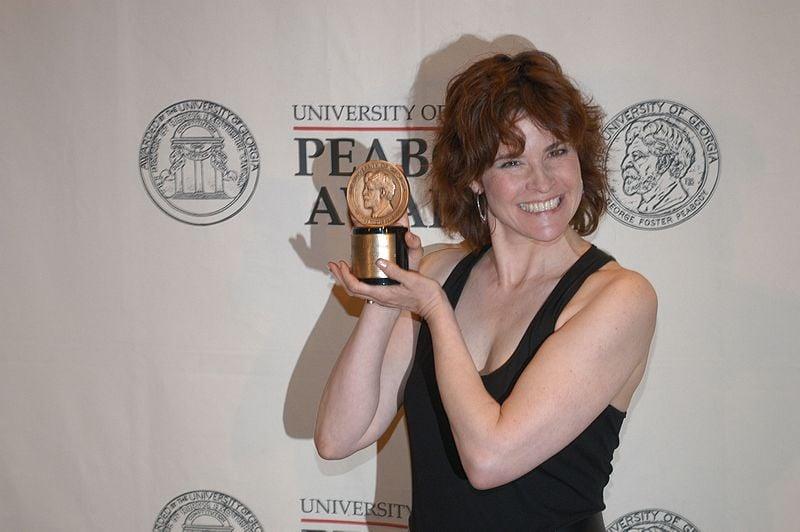 Ally Sheedy with Peabody Award