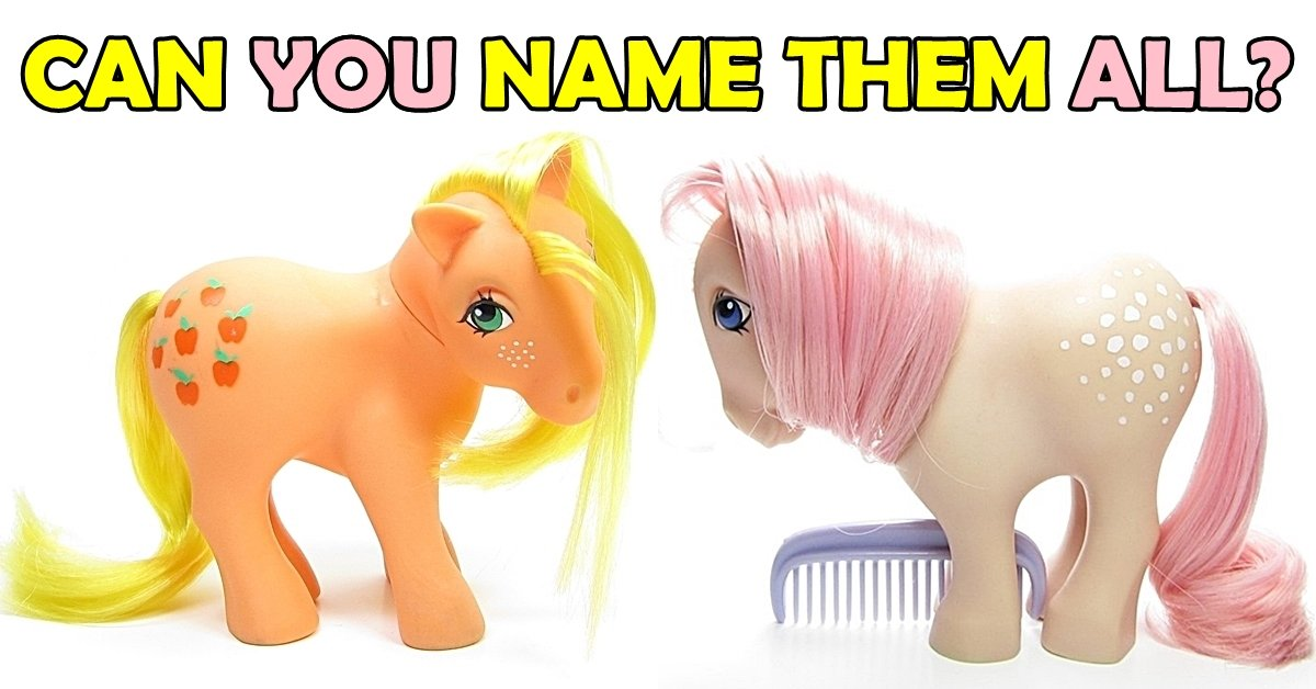 my little pony can you name the six original ponies eighties kids