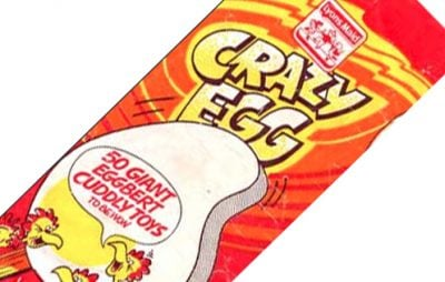 Crazy Egg novelty ice cream from the 1980s