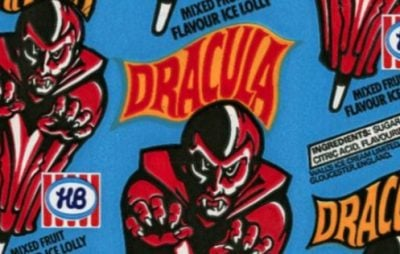 Dracula ice lolly wrapping paper from the 80s