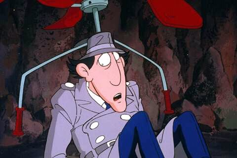 inspector gadget with his copter device