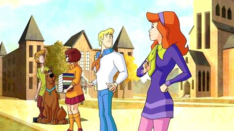 the gang in scooby doo