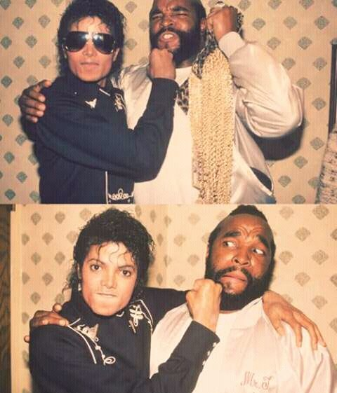 Mr T. with Michael Jackson
