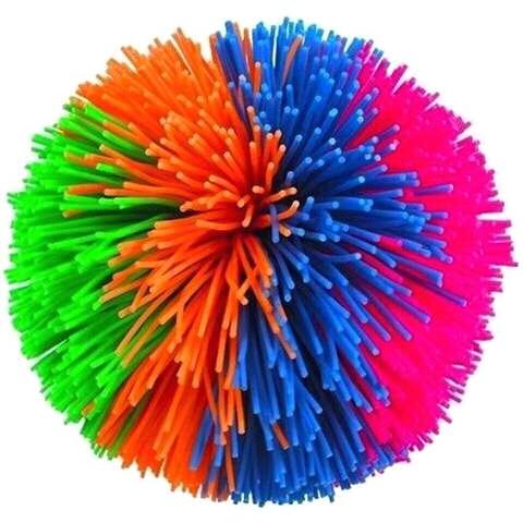 A multi-coloured Koosh ball