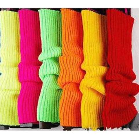 Coloured leg warmers