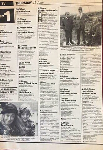 And old Radio Times from the 80s featuring Simon and the Witch