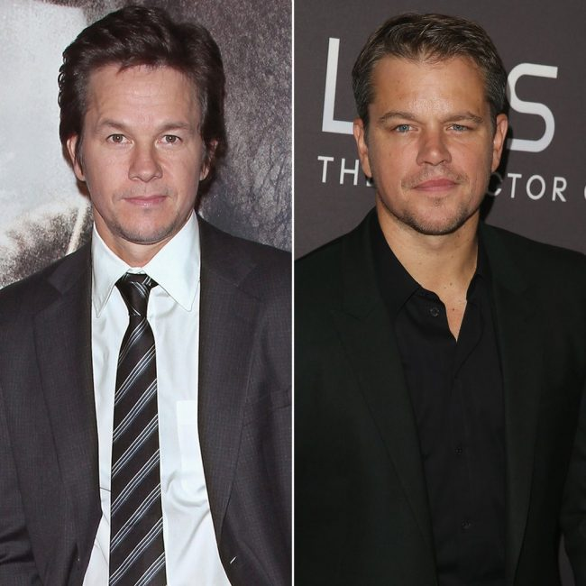 Mark Wahlberg Matt Damon These 25 Celebs and Their Doppelgangers Will Make You Look Twice