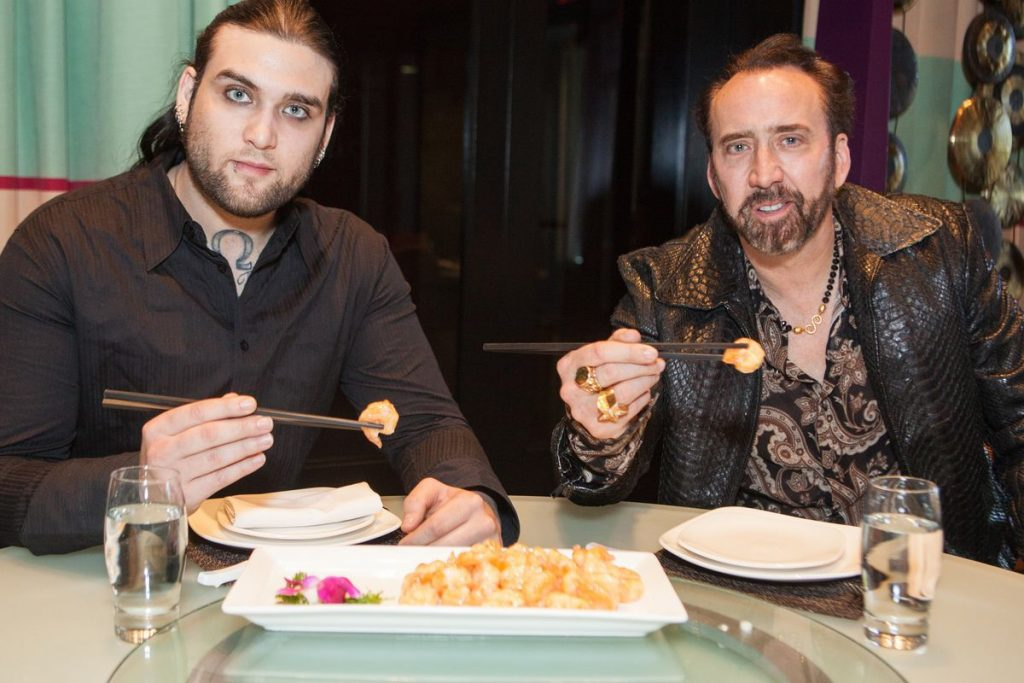Nicholas and Weston Cage at Lao Sze Chuan Joe Fury.0.0 1 20 Fascinating Facts You Didn't Know About Nicolas Cage