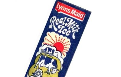 Real Milk Ice 1980s wrapper