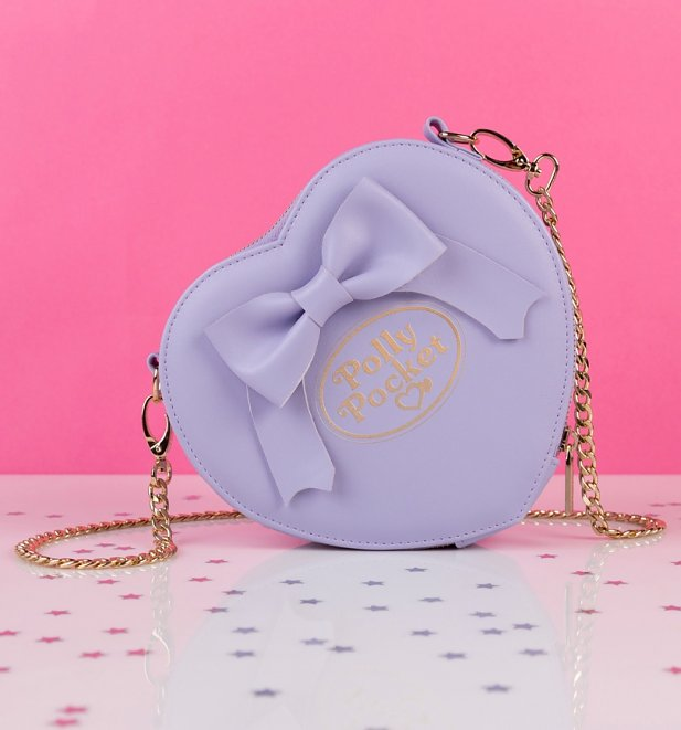 TS Purple Polly Pocket Heart and Bow Cross Body Bag 37 99 Creative 1 617 662 Hey 90's Kids! Relive Your Childhood with This Polly Pocket Clothing Range