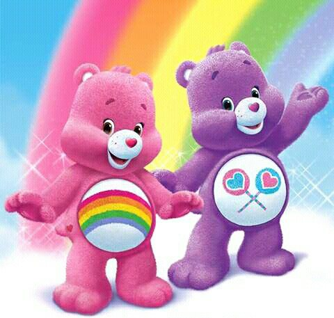 Two of the original Care Bears