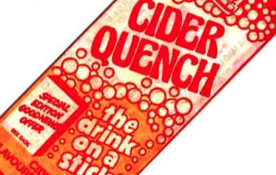Cider Quench ice lolly wrapper