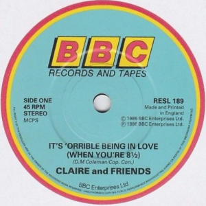 Clare and Friends single It's 'Orrible Being In Love