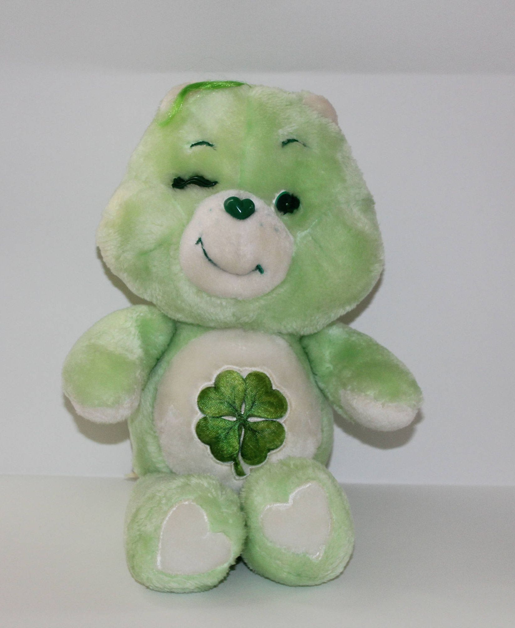 The green Good Luck Care Bear, with shamrock