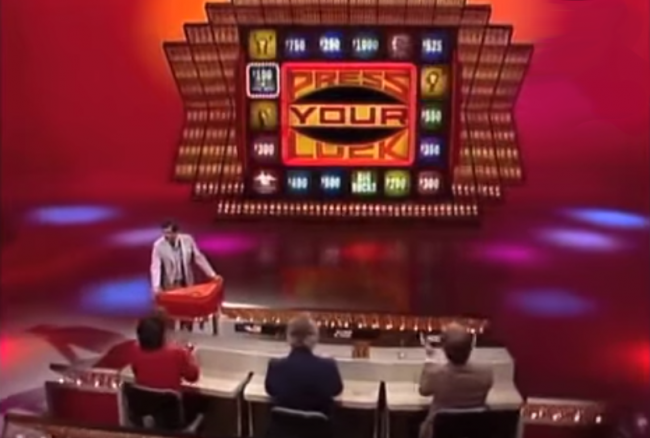 A scene from Press Your Luck